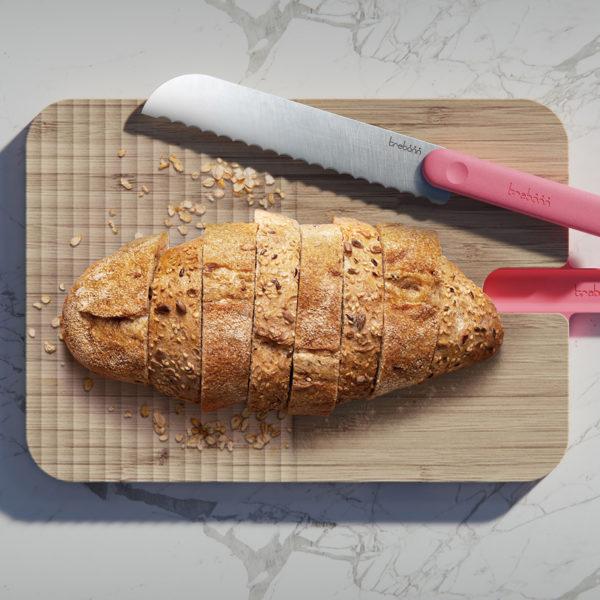 Artu snijplank van bamboe met broodmes